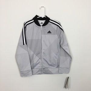Boys adidas black and white track jacket